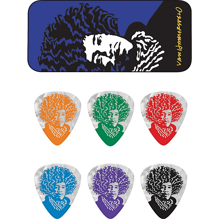 Dunlop John VanHanersvelt Jimi Pick Tin with 6 Picks Heavy