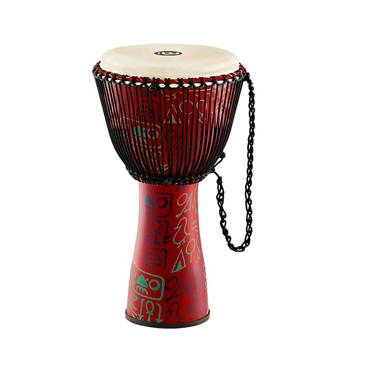 Meinl Journey Series Rope Tuned Fiberglass Goatskin Head Djembe Pharaohs Script 12 in.