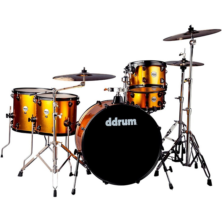 Ddrum Journeyman2 Series Rambler 5-piece Drum Kit with 24 in. Bass Drum Blaze Orange