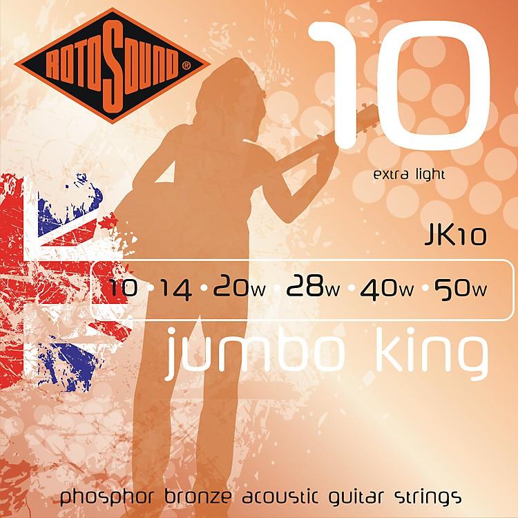 RotosoundJumbo King Extra Light Phosphor Bronze Acoustic Guitar Strings
