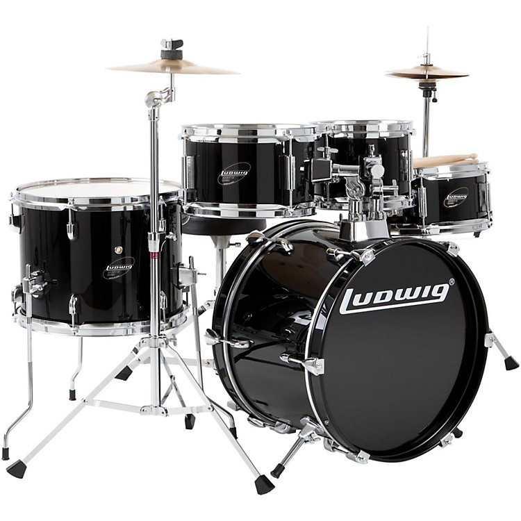 Ludwig Junior Outfit Drum Set Black