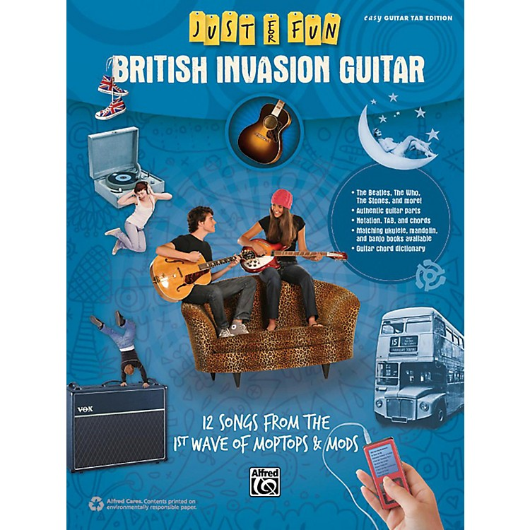 Alfred Just for Fun British Invasion Guitar Book