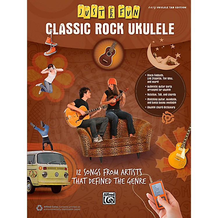 AlfredJust for Fun Classic Rock Ukulele Book