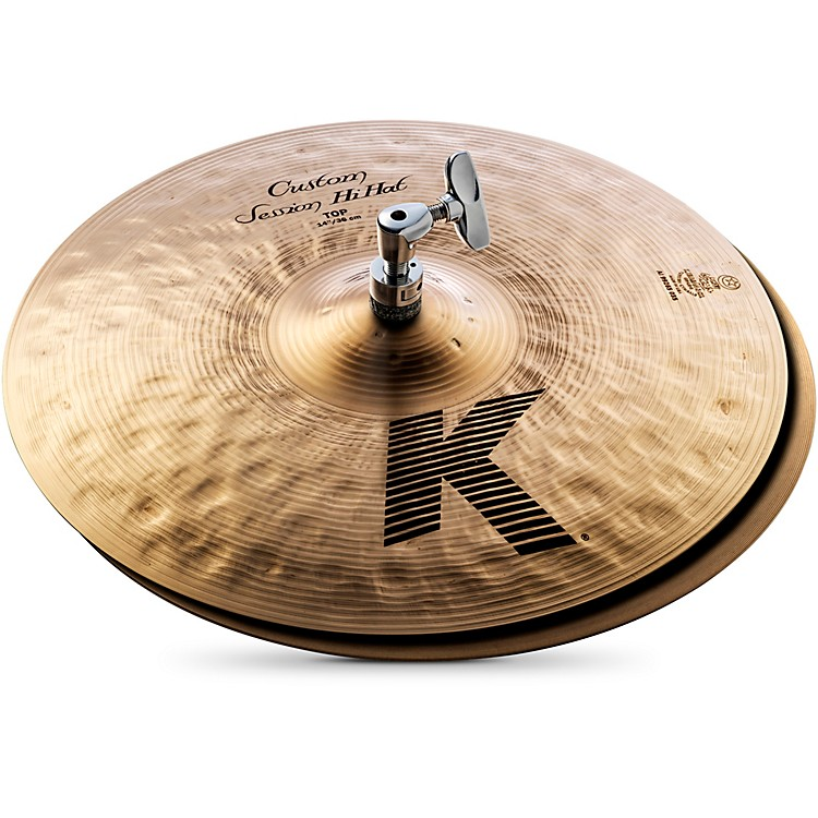 Zildjian K Custom Session Hi-Hat Cymbals 14 Inches 14 Inches