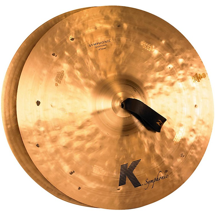 Zildjian K Symphonic Orchestral Crash Cymbal Pair 18 in.