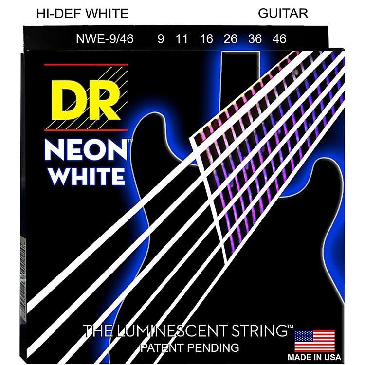 DR StringsK3 NEON Hi-Def White Electric Lite-Heavy Guitar Strings