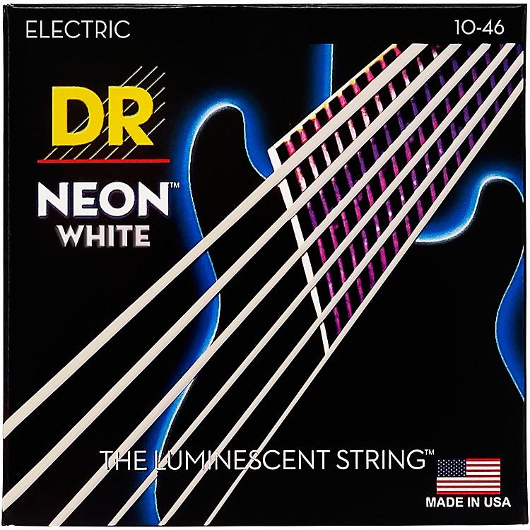 DR StringsK3 NEON Hi-Def White Electric Medium Guitar Strings