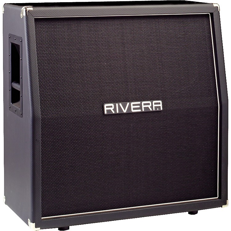 Rivera K412 V30 280W 4x12 Guitar Extension Cabinet with Vintage 30 Speakers Black Slant