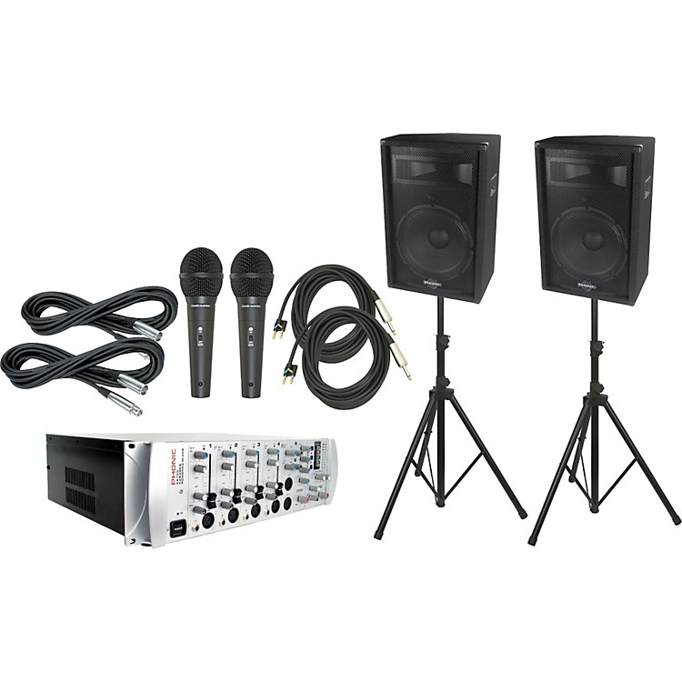 Phonic KA720 Powered Karaoke Mixer / S715 Package