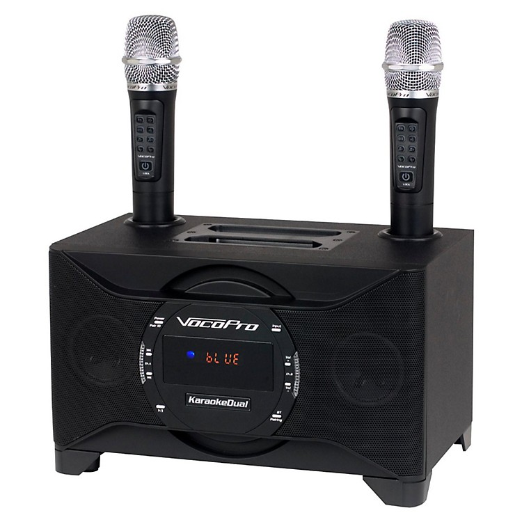 VocoProKARAOKEDUAL All-In-One Karaoke Boom Box with Wireless Mics