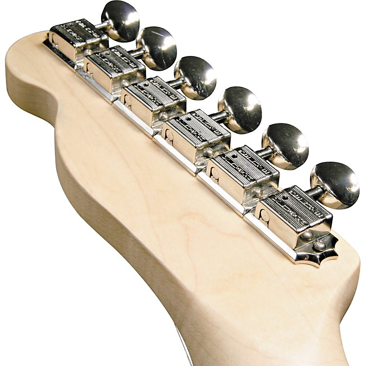 KlusonKF6B F-Style Guitar Tuning Machines - 6-in-Line Bolt BushingChrome