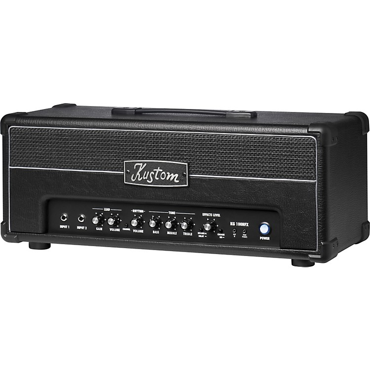 Kustom KG100HFX 100W Guitar Amp Head with Digital Effects Black