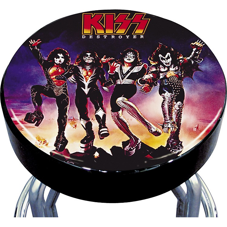 Silver Buffalo Kiss Destroyer Bar Stool Music123