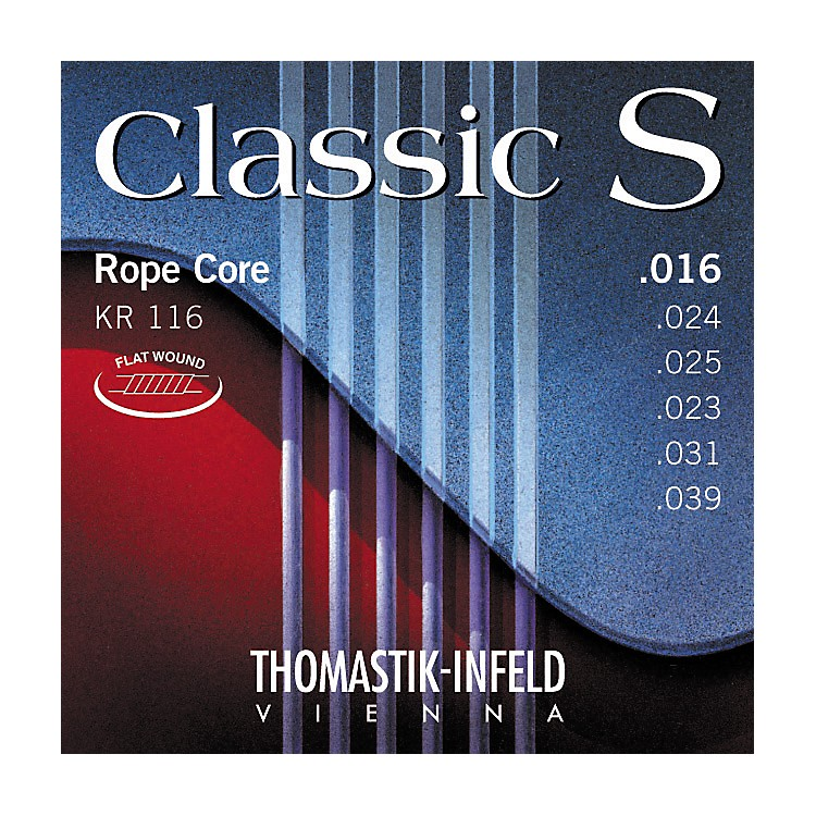 ThomastikKR116 Classic S Series Flatwound Light Guitar Strings