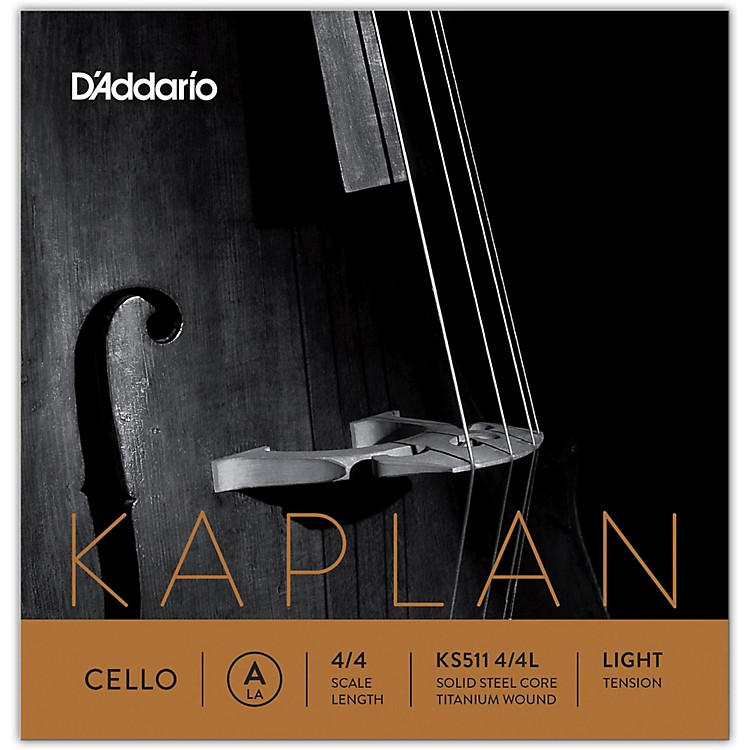 D'Addario KS511 Kaplan Solutions 4/4 Size Cello A String 4/4 Size Light