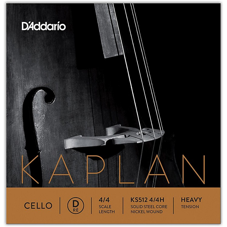 D'Addario KS512 Kaplan Solutions 4/4 Cello D String 4/4 Size Heavy