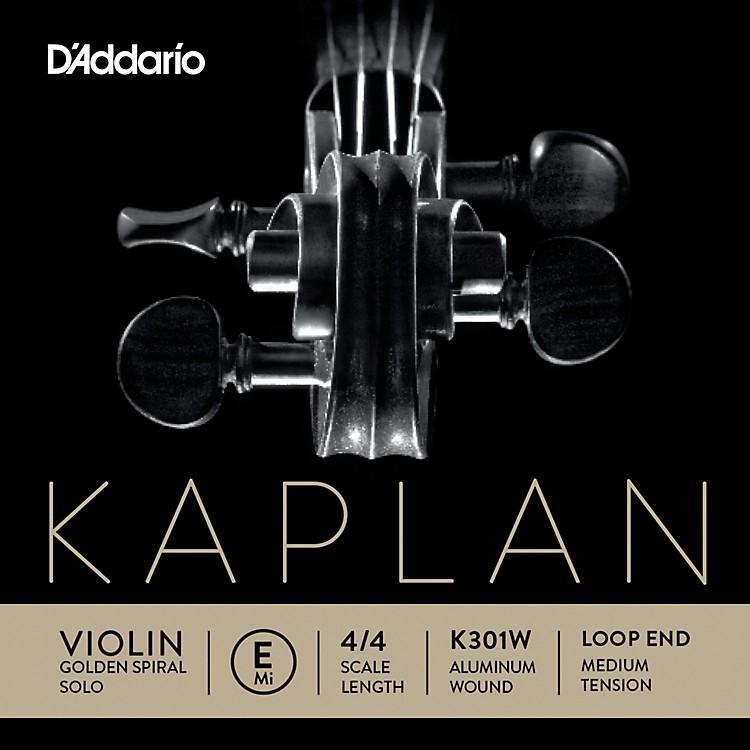 D'AddarioKaplan Golden Spiral Solo Wound Series Violin E String4/4 Size Solid Steel / AluminumMedium Loop End