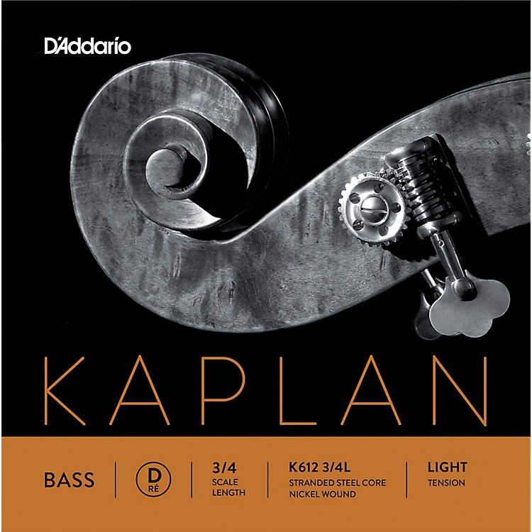 D'Addario Kaplan Series Double Bass D String 3/4 Size Light