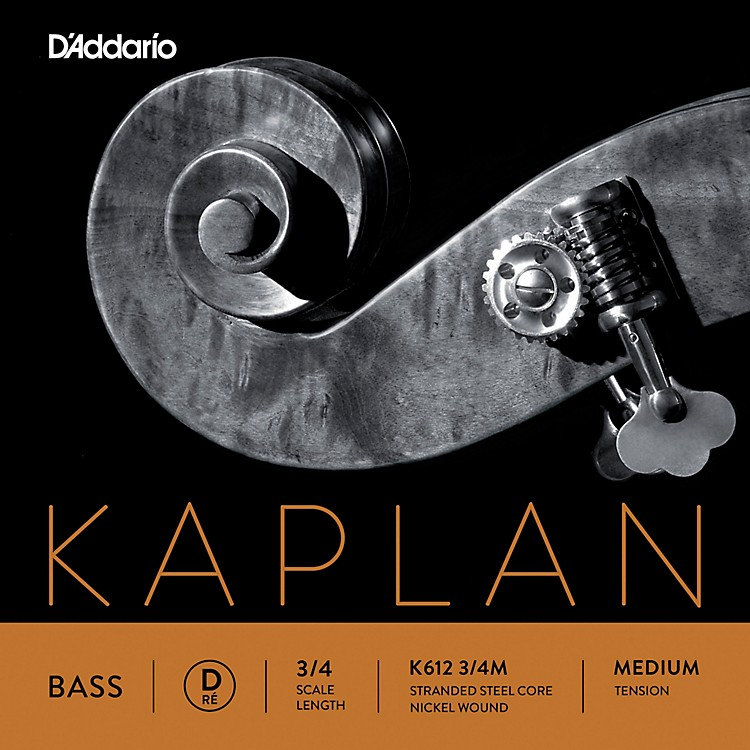 D'AddarioKaplan Series Double Bass D String3/4 Size Medium