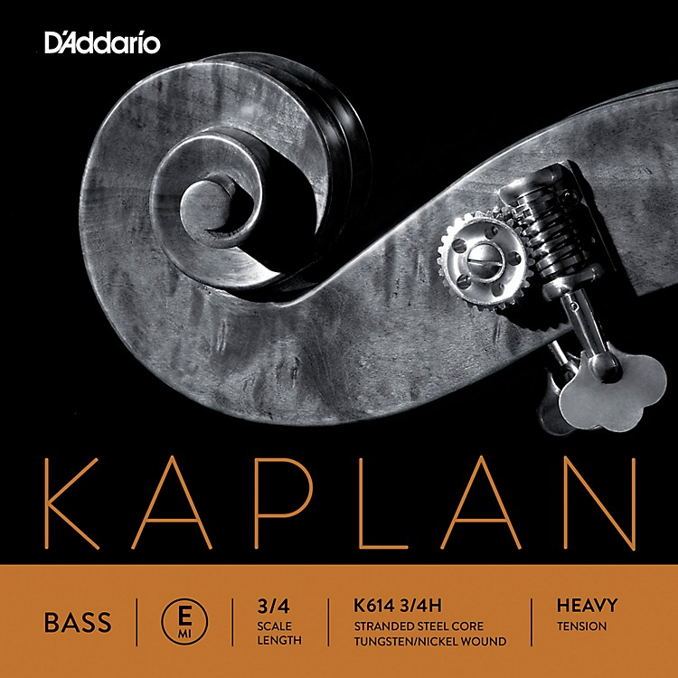 D'Addario Kaplan Series Double Bass E String 3/4 Size Heavy