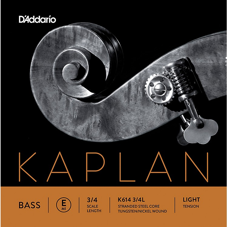 D'Addario Kaplan Series Double Bass E String 3/4 Size Light