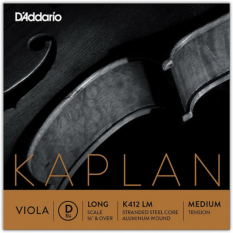 D'AddarioKaplan Series Viola D String16+ Long Scale Medium