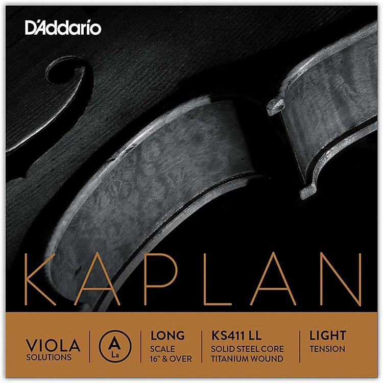 D'Addario Kaplan Solutions Series Viola A String 16+ Long Scale Light