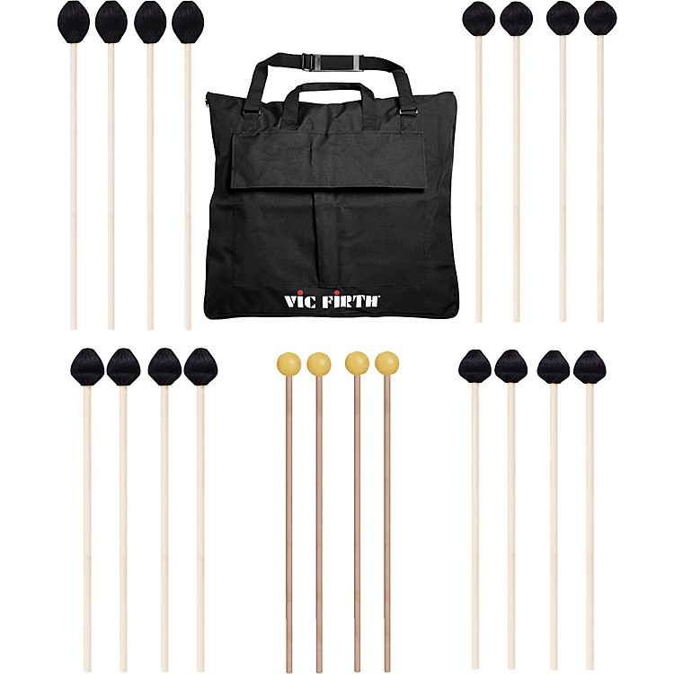 Vic Firth Keyboard Mallet 10-Pack w/ Free Mallet Bag - M182(2), M183(2), M187(2), M188(2) ,M134(2)