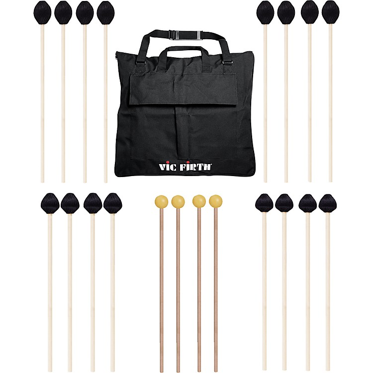 Vic Firth Keyboard Mallet 10-Pack w/ Free Mallet Bag - M183(4), M187(2), M188(2) ,M134(2)