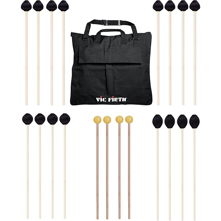 Vic FirthKeyboard Mallet 10-Pack w/ Free Mallet BagM182(2), M183(2), M188(4)