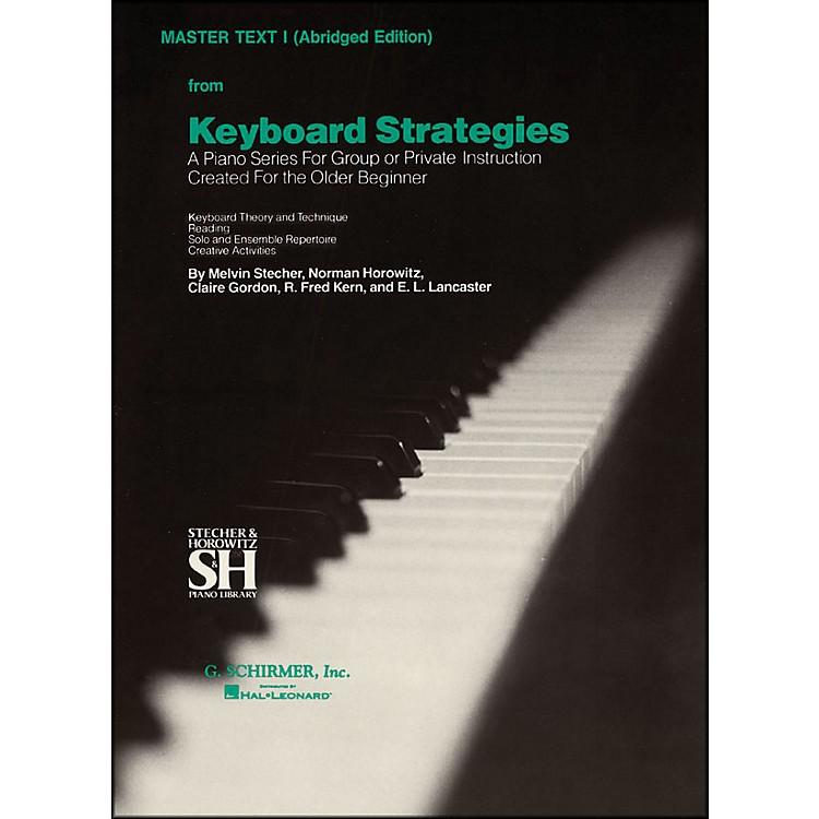 Music SalesKeyboard Strategies Vol 1 Pn Abridged Master By Stecher