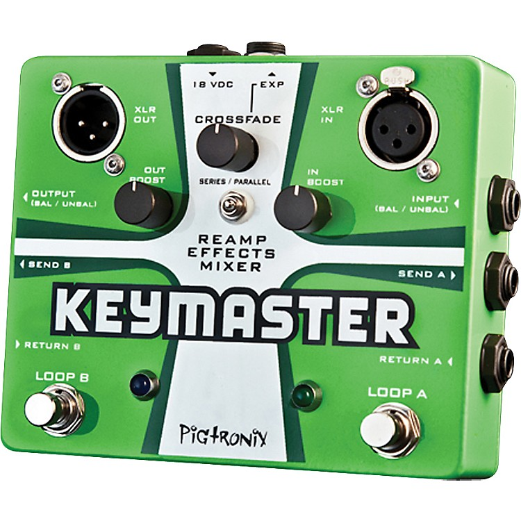 Pigtronix Keymaster Guitar Effects Loop Green
