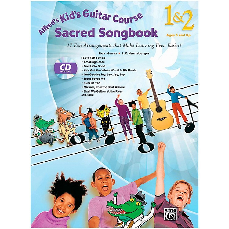 AlfredKid's Guitar Course Sacred Songbook 1 & 2 (Book/ CD)