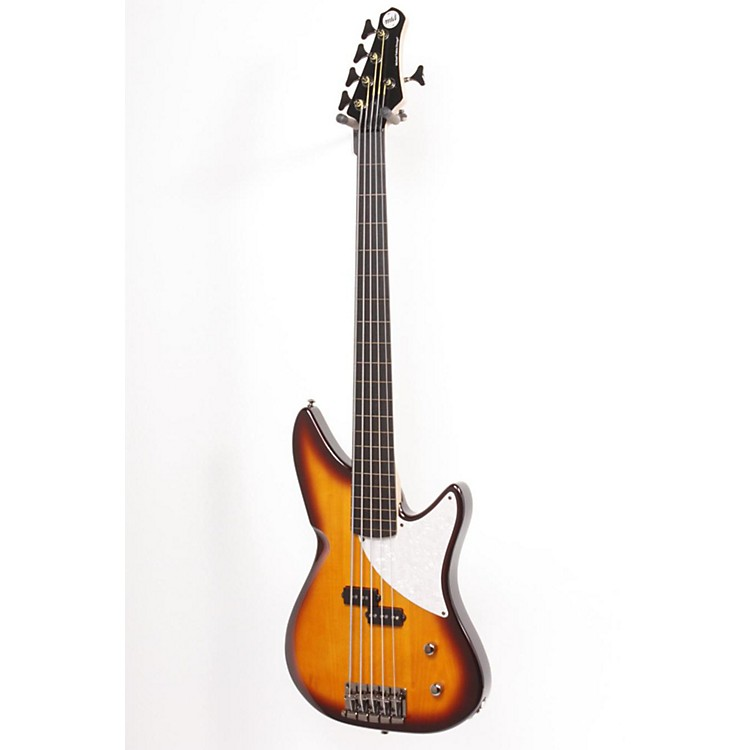 MTD Kingston CRB 5-String Fretless Electric Bass Guitar Tobacco Sunburst 886830746420
