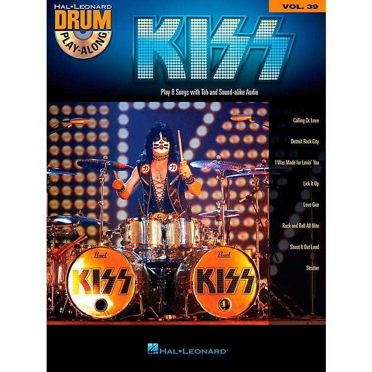Hal LeonardKiss - Drum Play-Along Volume 39 (Book/CD)