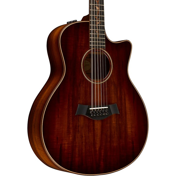 Taylor Koa Series K66ce Grand Symphony Acoustic-Electric 12-String Guitar Shaded Edgeburst