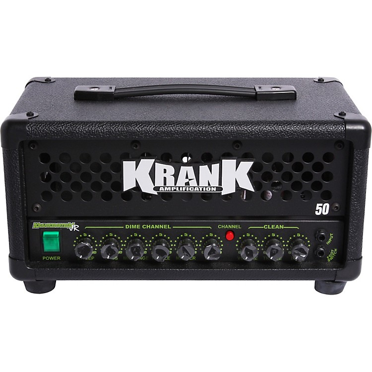 Krank Krankenstein Jr. 50W Tube Guitar Amp Head Black Black Grille