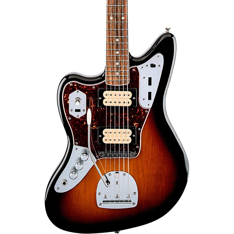 Fender Kurt Cobain Jaguar NOS Left-Handed Electric Guitar 3-Color Sunburst Rosewood Fingerboard