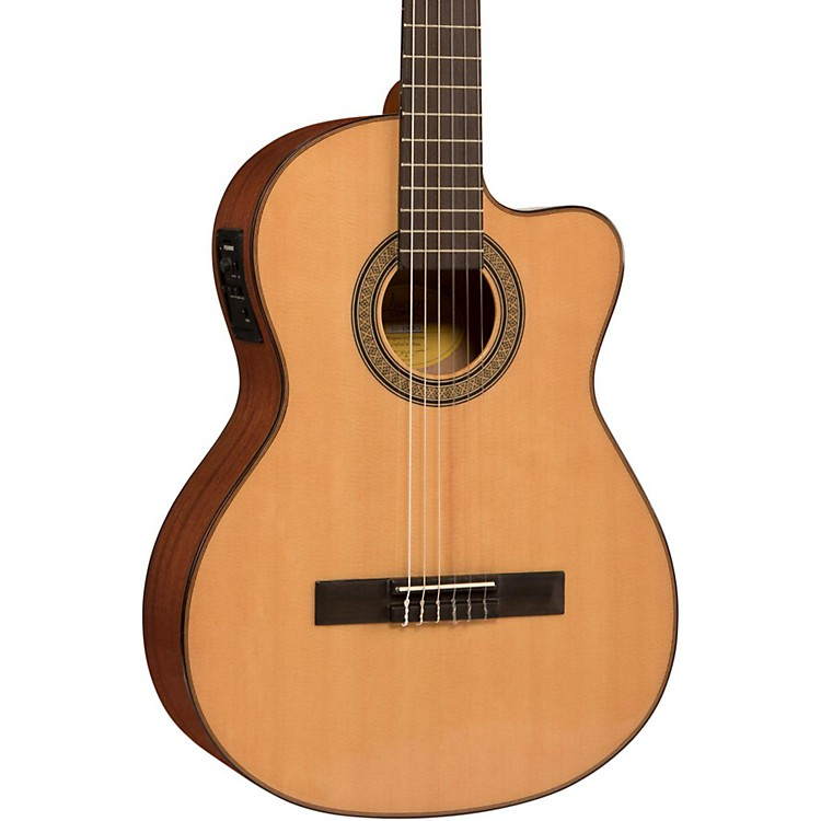 Lucero LC150Sce Spruce/Sapele Cutaway Acoustic-Electric Classical Guitar Natural