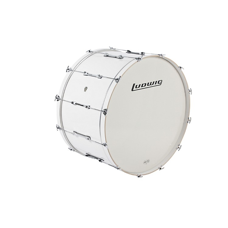 Ludwig LE-CB Bass Drum White 20x36