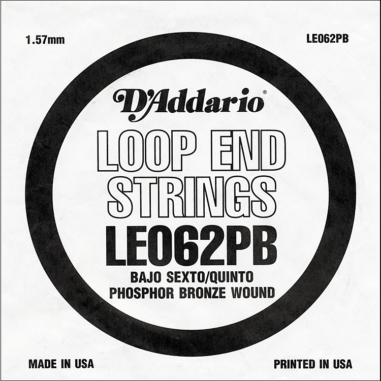 D'Addario LE062PB Phosphor Bronze Wound Single String