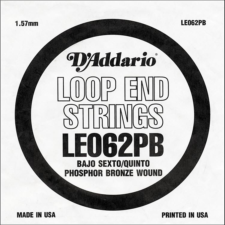 D'AddarioLE062PB Phosphor Bronze Wound Single String