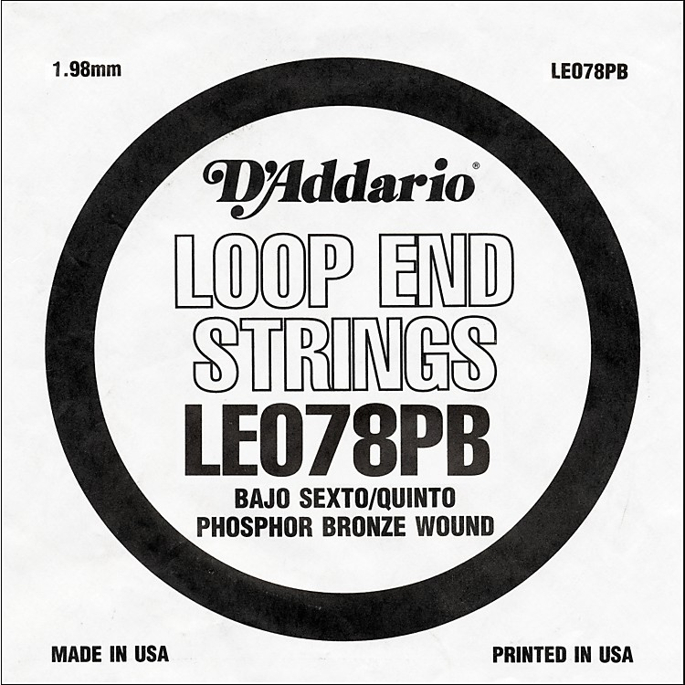 D'Addario LE078PB Phosphor Bronze Wound Single String