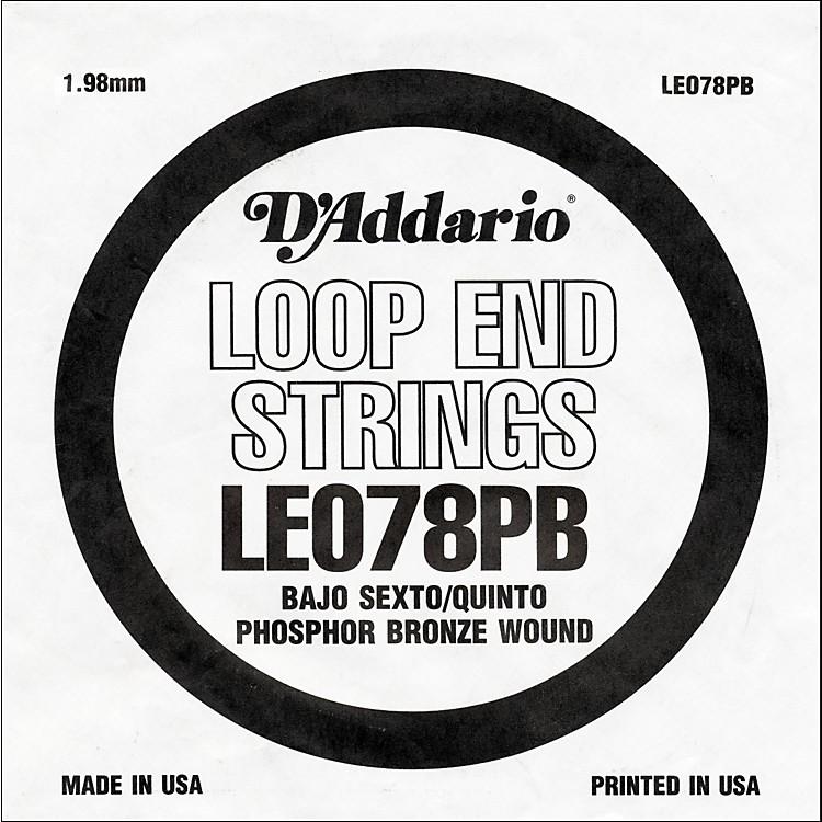 D'AddarioLE078PB Phosphor Bronze Wound Single String