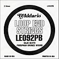 D'Addario LE092PB Phosphor Bronze Wound Single String