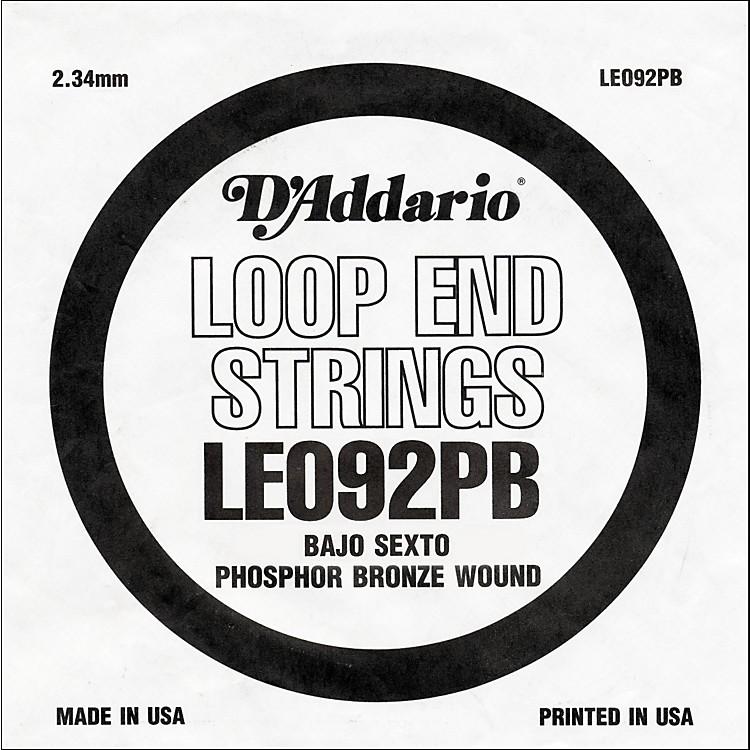 D'AddarioLE092PB Phosphor Bronze Wound Single String