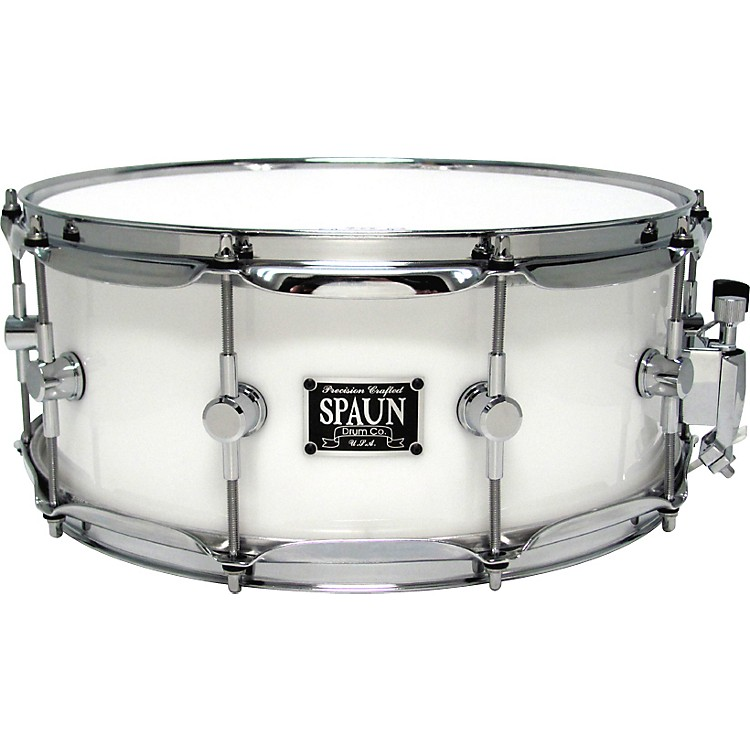 Spaun LED Acrylic Snare Drum White 6x14