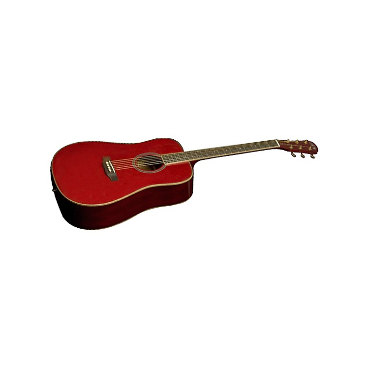 Great Divide LGD-18-G Dreadnought Spruce Top Acoustic Guitar Gloss/Red