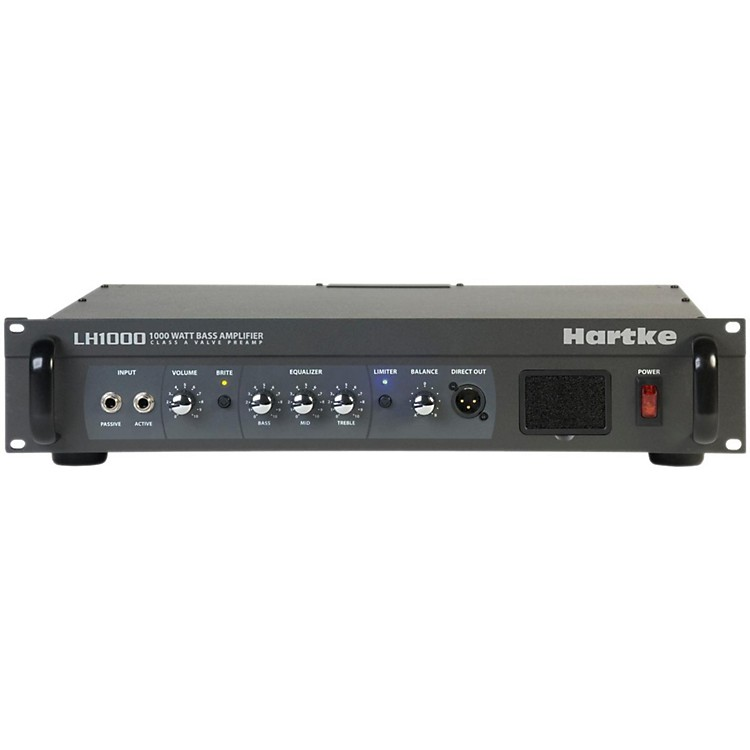Hartke LH Series LH1000 1000 Watt Hybrid Bass Amp Head Black