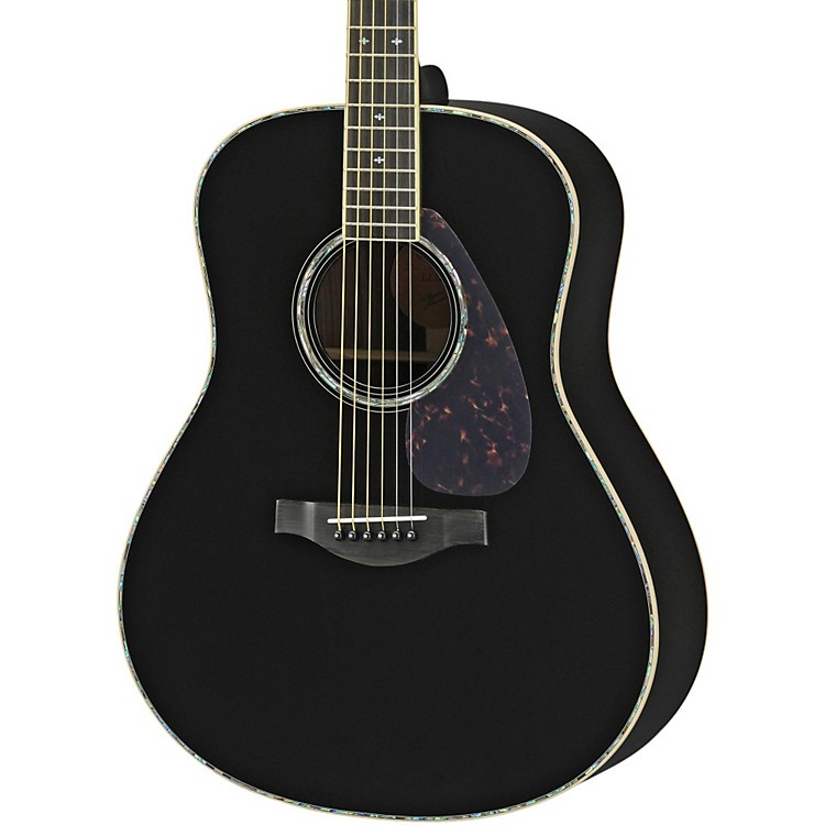 Yamaha LL16DR L Series Solid Rosewood/Spruce Dreadnought Acoustic-Electric Guitar Black